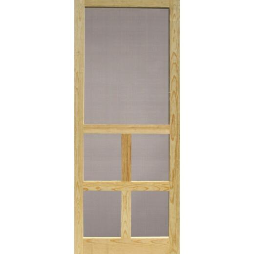 Snavely Victoria 32 In. W. x 80 In. H. x 1-1/8 In. Thick Natural Solid Pine Wood Screen Door