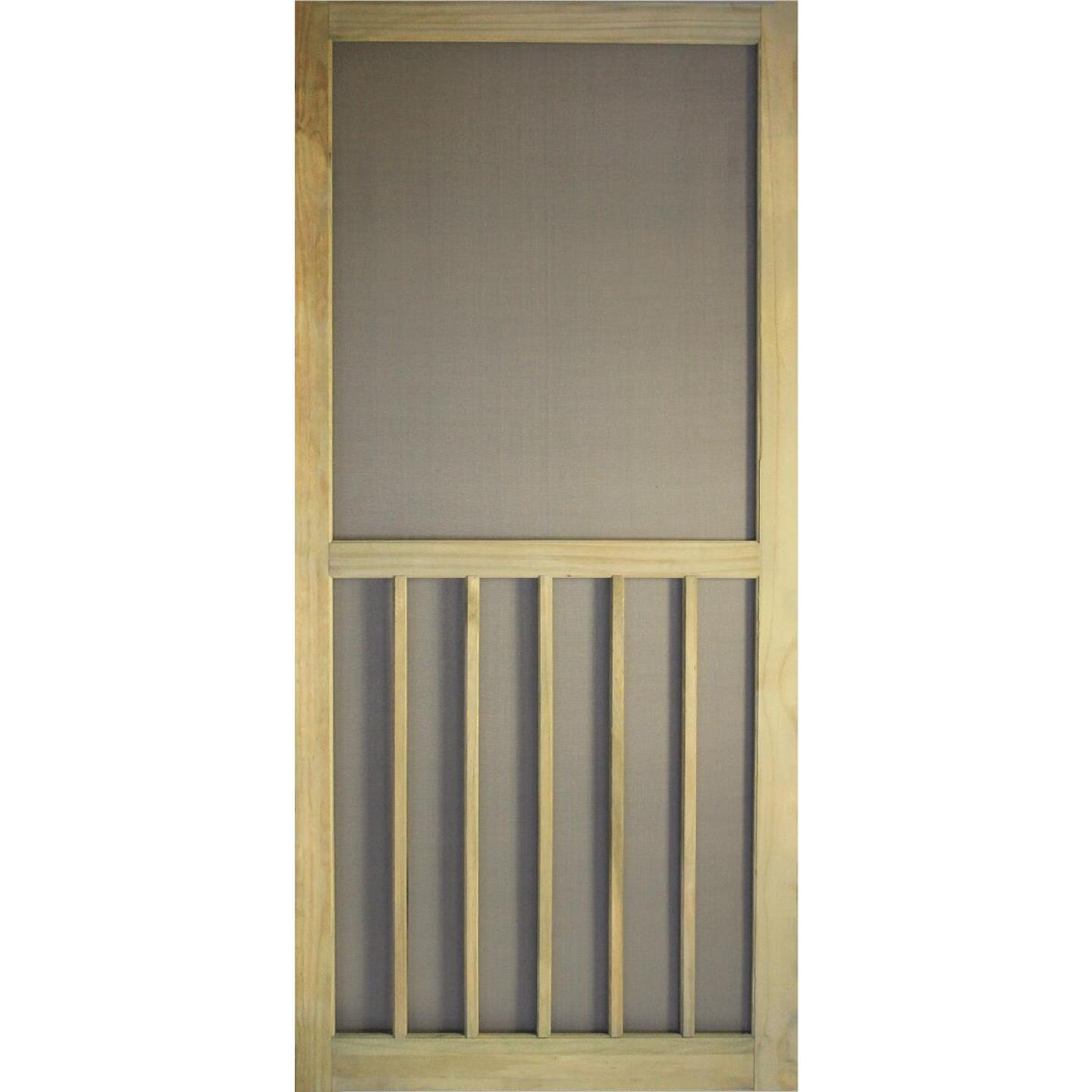Snavely Kimberly Bay 36 In. W. x 80 In. H. x 1-1/8 In. Thick Stainable Natural ACQ Treated Solid Pine 5-Bar Screen Door Image 1
