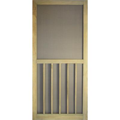 Snavely Kimberly Bay 36 In. W. x 80 In. H. x 1-1/8 In. Thick Stainable Natural ACQ Treated Solid Pine 5-Bar Screen Door