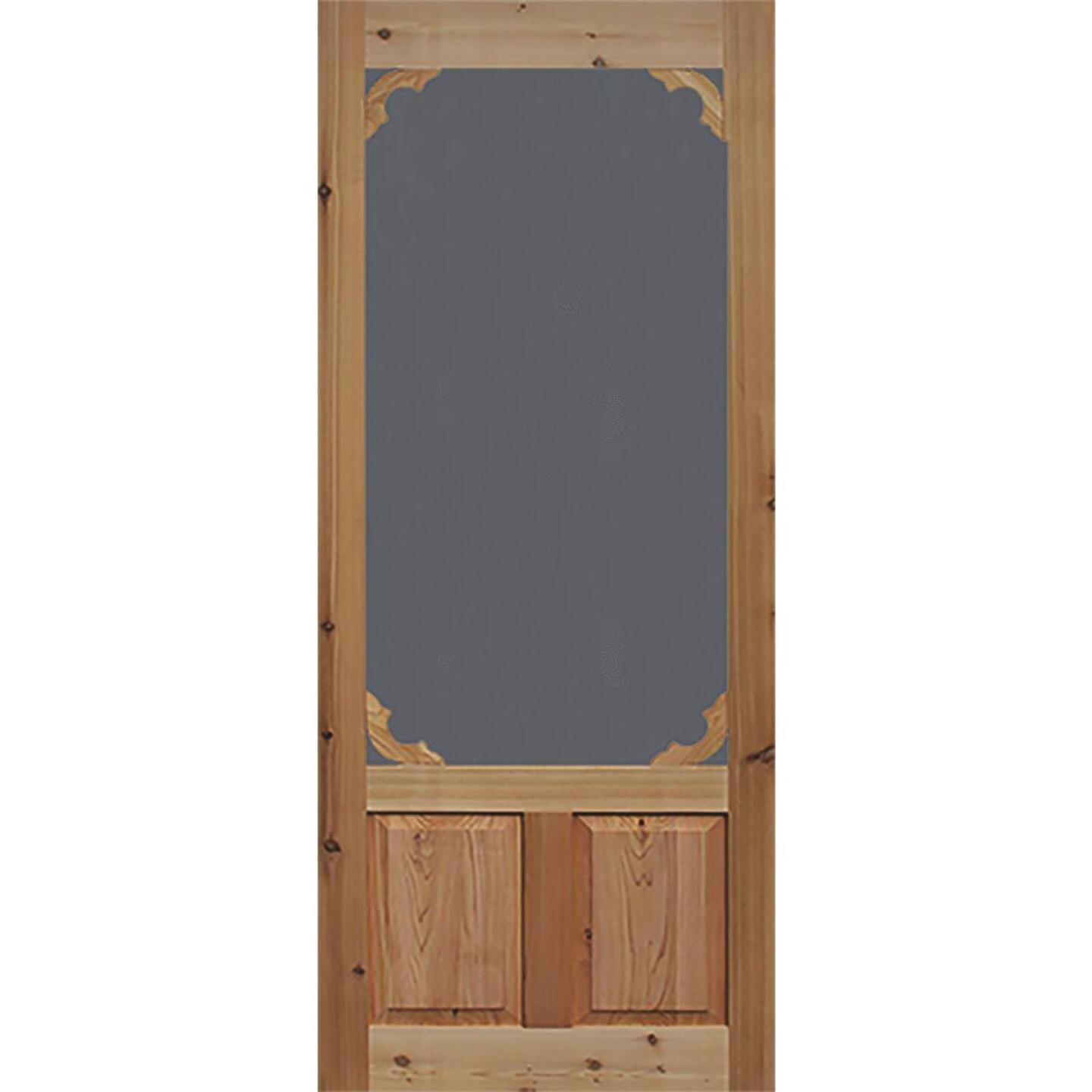 Snavely Kimberly Bay 36 In. W. x 80 In. H. x 1-3/8 In. Thick Natural Cedar Wood Woodland Screen Door Image 1