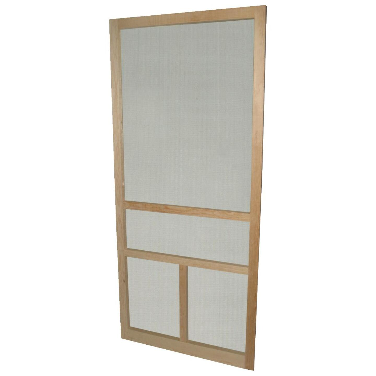Snavely 32 In. W. x 80 In. H. x 1-1/8 In. Thick Natural Solid Pine Wood T-Bar Screen Door Image 1