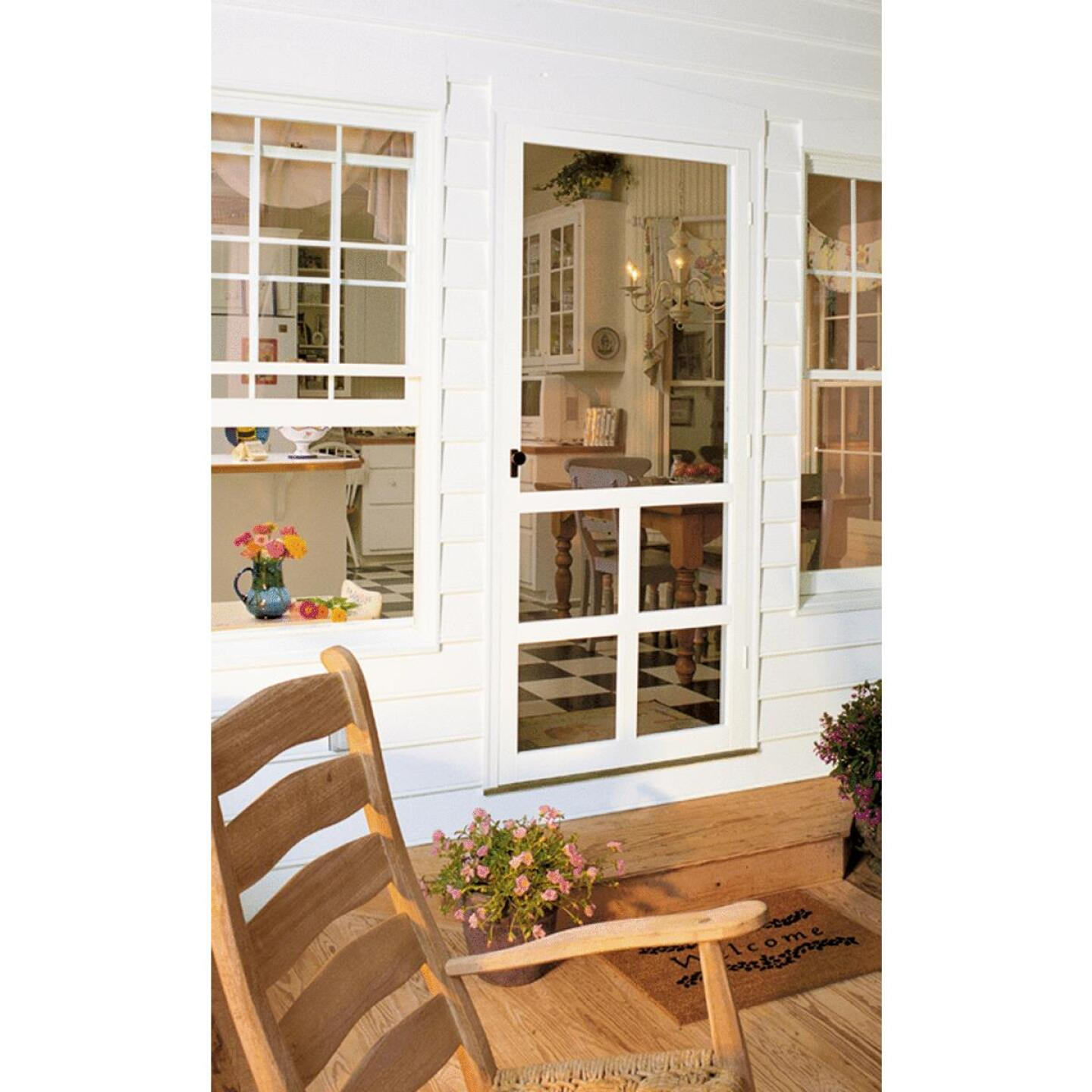 Snavely Kimberly Bay Victoria 32 In. W. x 80 In. H. x 1 In. Thick White Vinyl Screen Door Image 1