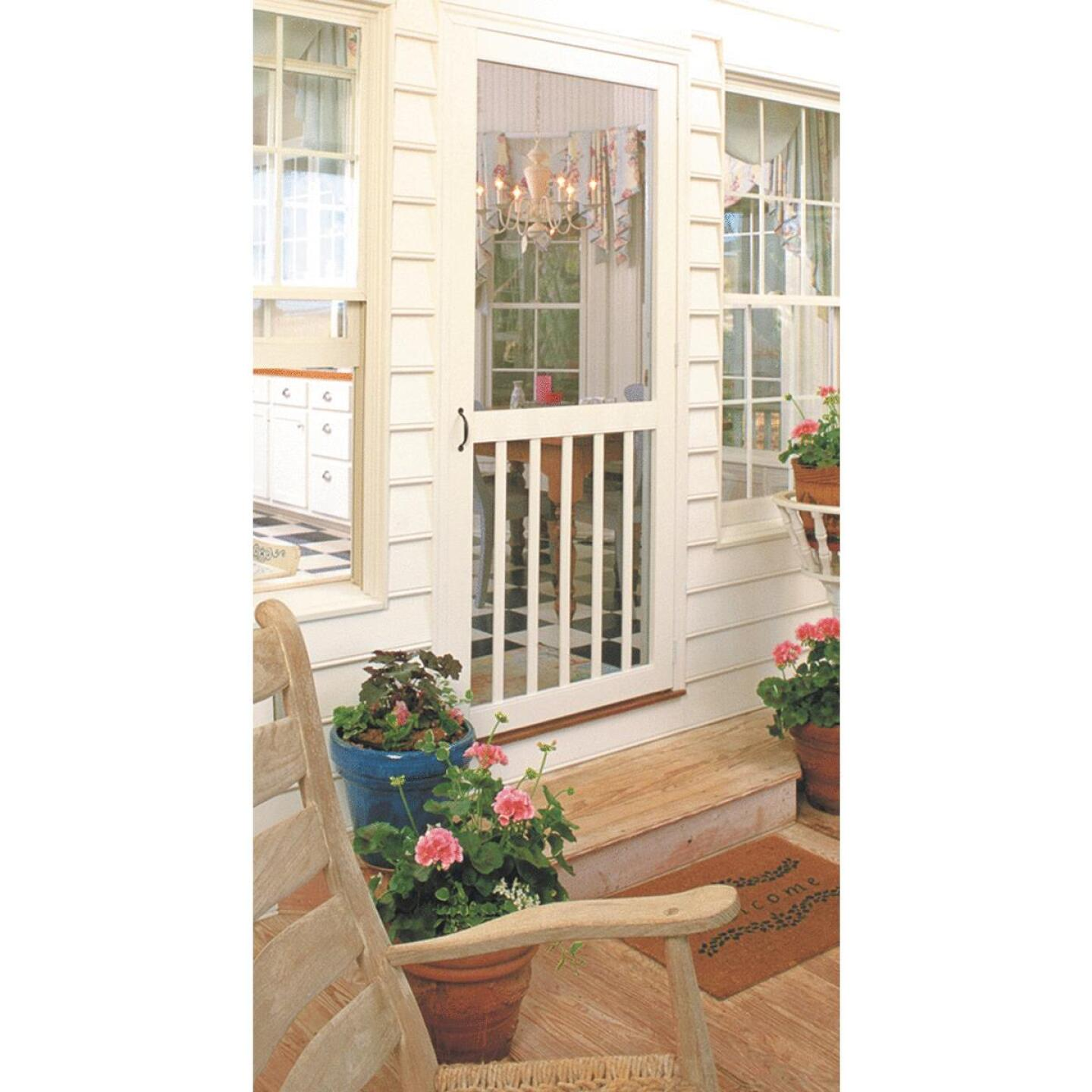 Snavely Kimberly Bay 32 In. W. x 80 In. H. x 1 In. Thick White Vinyl 5-Bar Screen Door Image 2