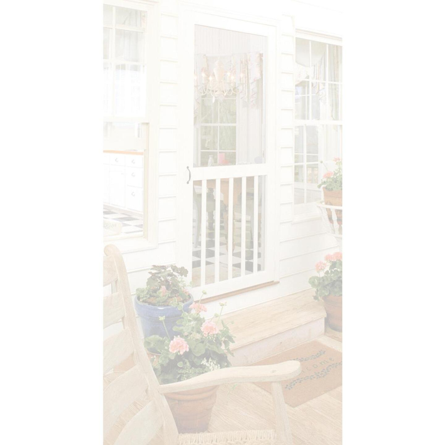 Snavely Kimberly Bay 32 In. W. x 80 In. H. x 1 In. Thick White Vinyl 5-Bar Screen Door Image 3
