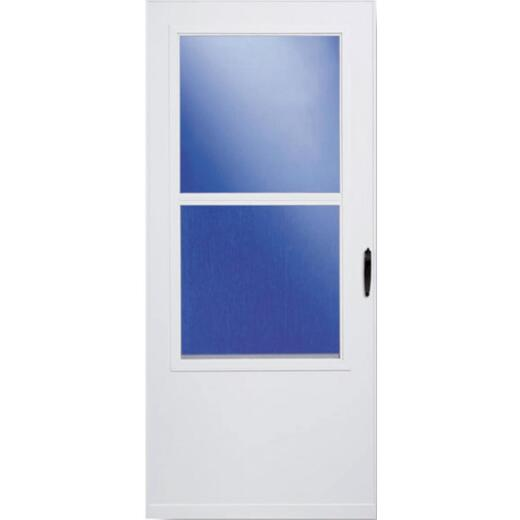 Larson 32 In. W. x 80 In. H. x 1 In. Thick White Self-Storing Vinyl Storm Door