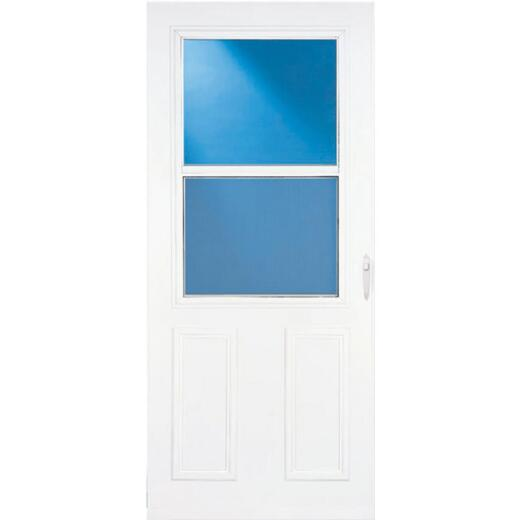 Larson Lifestyle MULTI-VENT 32 In. W. x 80 In. H. x 1 In. Thick White Mid View 2-Panel DuraTech Storm Door