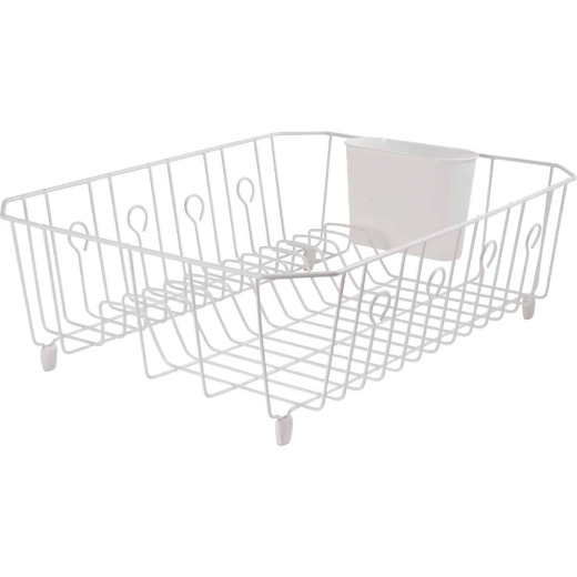 Rubbermaid 13.81 In. x 17.62 In. White Wire Sink Dish Drainer