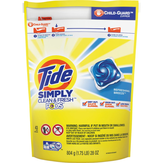 Tide Simply Clean & Fresh 28 Oz. 43 Load High Efficiency Pod Laundry Detergent