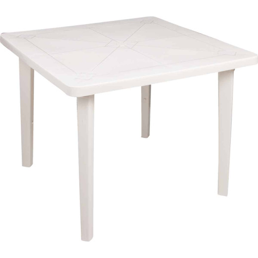 Adams 36 In. Square White Resin Table