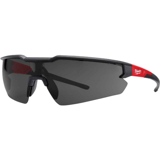 Milwaukee Red & Black Frame Safety Glasses with Tinted Anti-Scratch Lenses