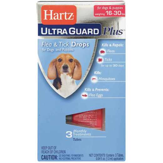 Hartz UltraGuard Plus 3-Month Supply Flea & Tick Drops For Dogs 16 To 30 Lb.
