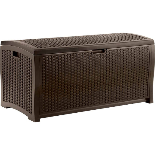 Suncast 99 Gal. Resin Wicker Java Deck Box